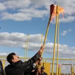 Пуск газа в с. Кудрино 09.10.2009г.