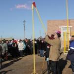Пуск газа фото с.Сорочье 10.12.2010г.